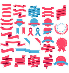 ribbons and labels set vector image vector image