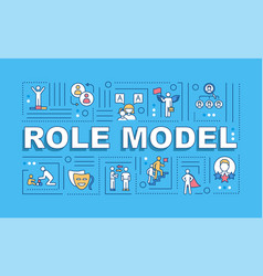 Role model word concepts banner vector