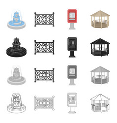 roof protection park and other web icon in vector image