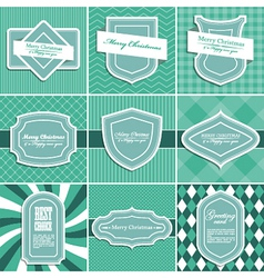 set christmas vintage backgrounds vector image