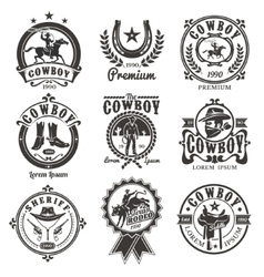 Set of rodeo logos vector image