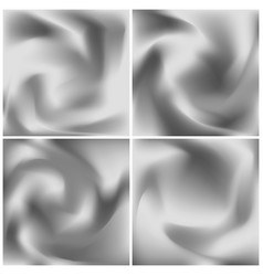 set of silver silk textures grayscale abstract vector image
