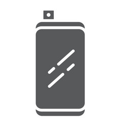 smartphone with front retractable camera glyph vector image