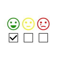 Smiley checklist or smiley emoticons icon vector