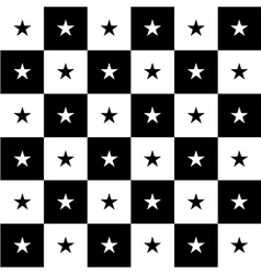 Star Black White Chess Board Background vector