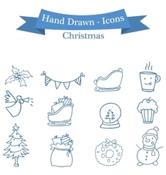 Stock Christmas icons set collection vector image