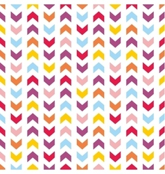 Tile pattern with pastel arrow print on white vector