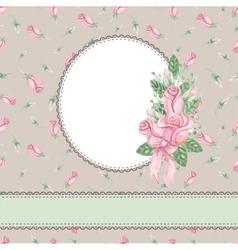 vintage floral rose vector image