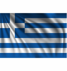 Waving greece vector