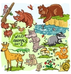 Wild animals hand drawn collection part 2 vector