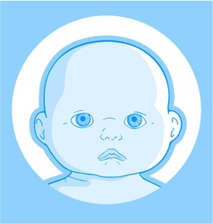 baby face vector image vector image