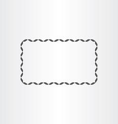 black rectangle decorative frame element vector image
