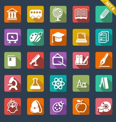 Education icon set- flat design vector image
