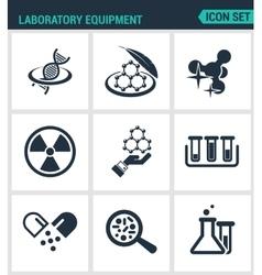 Set modern icons Laboratory equipment vector image