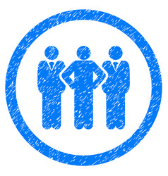 team rounded grainy icon vector image vector image