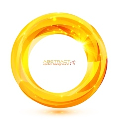 Yellow crystal abstract round frame vector image