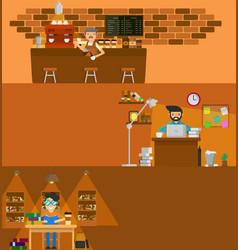 coffee work vector image vector image