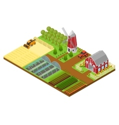 Farm Isometric View vector image vector image