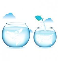 fish jumping vector image vector image