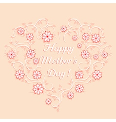 Happy mothers day template vector image vector image
