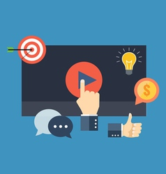 Media marketing concept Flat design stylish vector image vector image