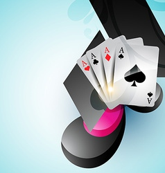 casino card design vector image