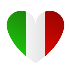 heart with Italy flag vector image vector image