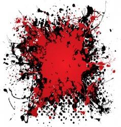 ink blood splat vector image vector image