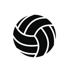 Volleyball ball black simple icon vector