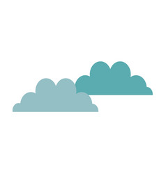 cloudscape sky clouds fluffy cumulus atmosphere vector image