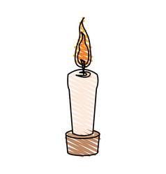 color crayon stripe cartoon decorative candle spa vector image