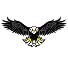 eagle mascot spread the wings vector image vector image