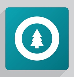 flat fir-tree icon vector image vector image