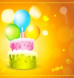 greeting card of birthday vector image
