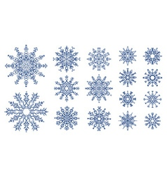 Snowflakes isolated on white background vector image