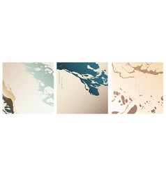 abstract arts background with japanese pattern vector image