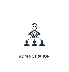 Administration icon simple element vector