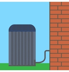 Air conditioner unit concept Colorful vector