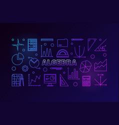 Algebra colorful in outline vector