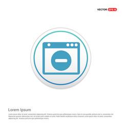 Application window interface icon - white circle vector
