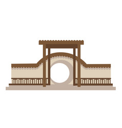 asian architecture wooden temple oriental vector image