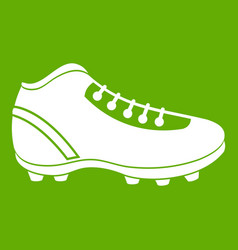 Baseball cleat icon green vector