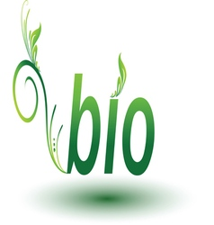 Bio Green sign isolated vector image