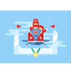 Bobsleigh winter sport vector image