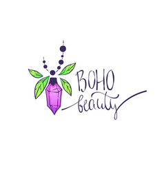 boho chic hand drawn background boho chic hand vector image