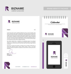 Brochure design with r logo and unique desing and vector