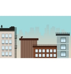 Cartoon city landscape flat vector