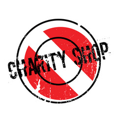 Charity shop rubber stamp vector