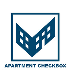 checkbox in the form of a building vector image