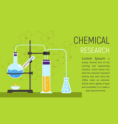 chemical research concept banner flat style vector image